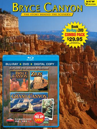 Bryce Canyon Book/ Bryce Canyon, Zion, N. Rim Grand Canyon Blu-ray Combo