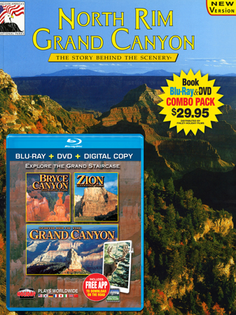 North Rim Grand Canyon Book//Bryce Canyon, Zion, N. Rim Grand Canyon Blu-ray Combo