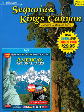 Sequoia & Kings Canyon IP Book/ America's National Parks Blu-ray Combo