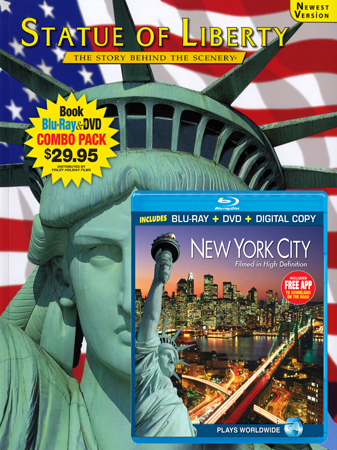 Statue of Liberty Book/New York City Blu-ray Combo