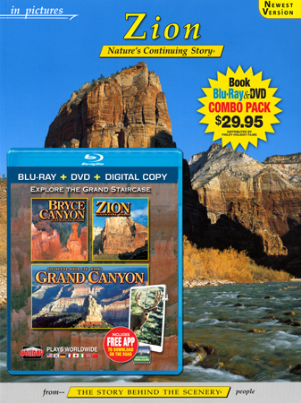 Zion IP Book/Bryce, Zion, N. Rim Grand Canyon Blu-ray Combo