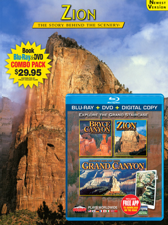 Zion Book/Bryce, Zion, North Rim Grand Canyon Blu-ray Combo